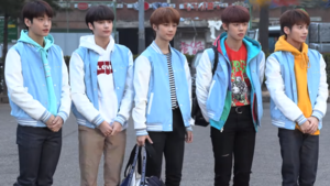 TXT in March 2019 Left to right: Soobin, HueningKai, Beomgyu, Yeonjun and Taehyun