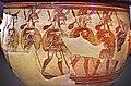 02 2020 Grecia photo Paolo Villa FO190060 bis (Museo archeologico di Atene) Cratere dei guerrieri dipinto con soldati NAMA 1426 Acropoli di Micene. XII secolo a.C., con gimp.jpg