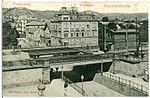 03580-Kötzschenbroda-1903-Blick vom Bahnhof auf Postamt und Friedensburg-Brück & Sohn Kunstverlag.jpg