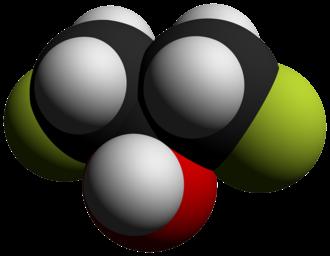 1,3-Difluoro-2-propanol - Image: 1,3 Difluoro 2 propanol 3D vd W by AHRLS 2012