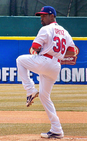 Ramón Ortiz - Ortiz pitching for the Buffalo Bisons, triple-A affiliates of the Blue Jays, in 2013