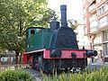 109 Màquina de tren a la cruïlla de la Rambla i el c. Galileu (Terrassa).jpg