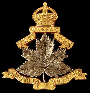 10th Queen's Own Canadian Hussars - Image: 10th QOCH Badge