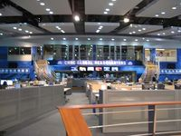 The newsroom at CNBC's NJ HQ