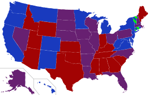 This is a map depicting each states senators i...