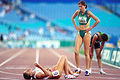 141100 - Athletics track Patricia Flavel finish line - 3b - 2000 Sydney race photo.jpg