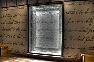 Gettysburg Museum and Visitor Center - Image: 15 23 0261 gettysburg address