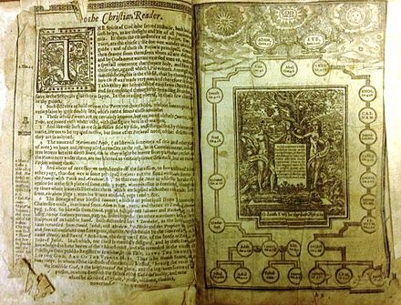 1612, first King James Bible in quarto size 1612 First Quarto of King James Bible.jpg