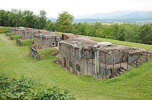 Fort de Mutzig - Battery No.1 at Mutzig