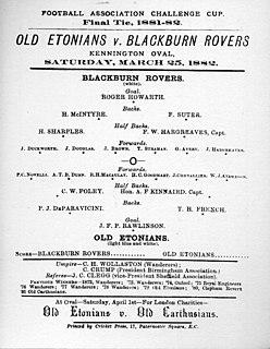 1882 FA Cup Final Football match