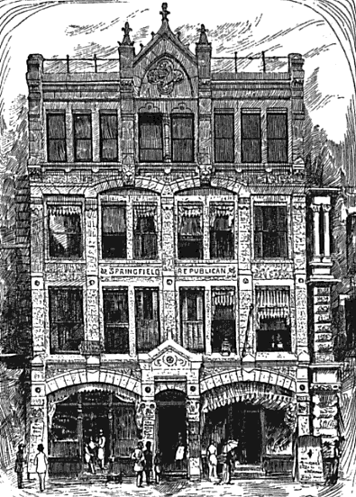 1884 Springfield Republican building Massachusetts