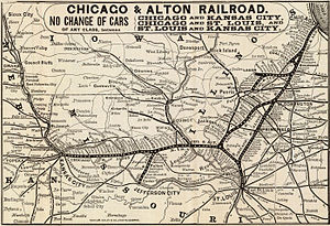 Alton Railroad - 1885 map