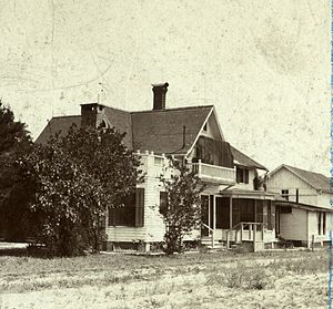Frances Shimer - Picture from the 1890s of the home of Frances Shimer in DeLand, Florida. Built in 1885 and still standing, this is one of DeLand's oldest homes.