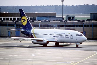 Ukraine International Airlines - A former Ukraine International Airlines Boeing 737-200 in 1998