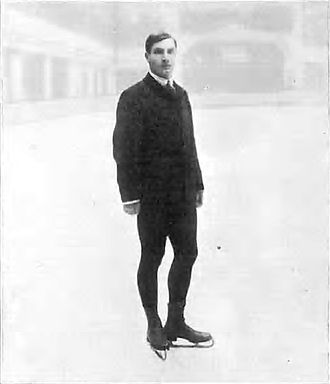 Salchow jump - Salchow on the ice in 1908