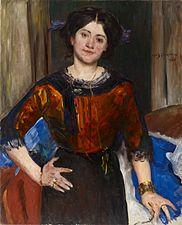 1910 Lovis Corinth Porträt Charlotte Corinth in brauner Bluse.jpg