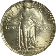 1916 Standing Liberty quarter obverse 1.png