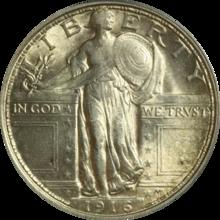 1916 Standing Liberty quarter obverse 1.png