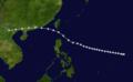 1923 Hong Kong Typhoon track.png