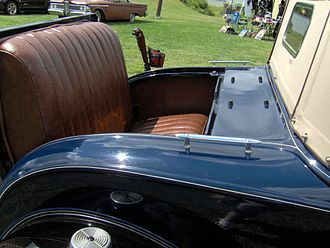 Rumble seat - This 1931 Ford Model A sport roadster features a rumble seat