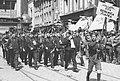 """1934 Przemarsz orkiestry Towarzystwa Gimnastycznego """"Sokół"""" ze Śląska ulicami Poznania 1-P-1130-4.jpg"""
