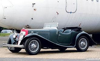 Abbey (coachbuilder) - 1938 sports tourer on a 15-98 Aston Martin chassis