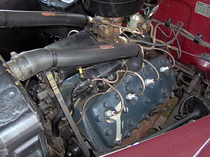 Ford flathead V8 engine - Image: 1942 Ford Super Deluxe engine