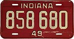 1949 Indiana license plate 2.jpg