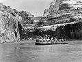 1953 Sierra Club Green River Canyon Trip. Sierra Club members in inflatable pontoon boatraft approaching Dinosaur National (a1b84d5c09814b3e89f6b12263026ec4).jpg