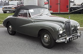 1954 Sunbeam Alpine Mark I Roadster, front right (Hershey 2019).jpg