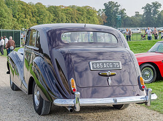 Rolls-Royce Silver Wraith - Rear of the touring limousine