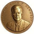 1962 President John F. Kennedy Appreciation Medal (obverse).jpg