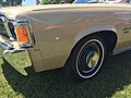 1973 AMC Ambassador Brougham sedan in beige with cinnamon and a 401 V8 at 2015 Macungie show 07.jpg