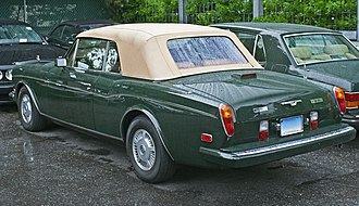 Rolls-Royce Corniche - Rear view of 1988 Bentley Continental (US)