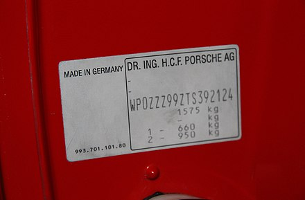 Vehicle identification number - Wikiwand