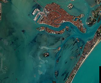 Venetian Lagoon - Venetian lagoon from above