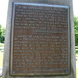 John Peter Altgeld - Altgeld's grave in Graceland Cemetery, Uptown, Chicago