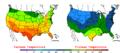 2006-05-02 Color Max-min Temperature Map NOAA.png
