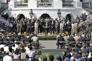 The 2006 Indianapolis Colts honored at the White House for their Super Bowl victory.