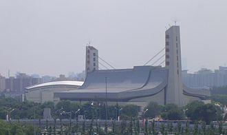 Ying Tung Natatorium - Image: 2008 Olympic Sports Center Yingdong Natatorium