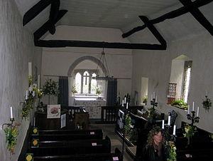Arne, Dorset - Image: 2010 04 07 St. Nicolas Church Arne inside
