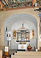 20100406075DR Kiebitz (Ostrau) Dorfkirche Altar Kanzel.jpg