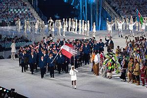 Збірна австрії під час параду націй на