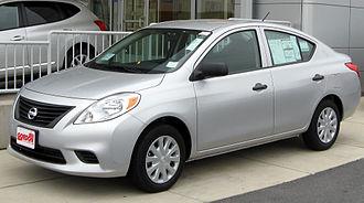 Nissan Versa - Image: 2012 Nissan Versa S 11 10 2011