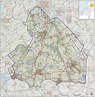 Drenthe - Topography map of Drenthe, 2013