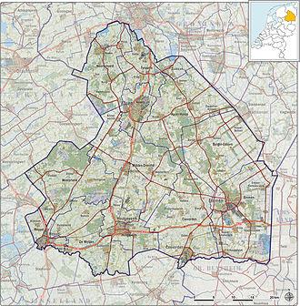 Drenthe - Topography map of Drenthe, 2013