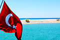 2013. Manavgat River & Mediterranean Sea With Flag.jpg