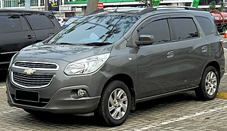 Chevrolet Spin Mini MPV manufactured by General Motors since 2012 in Brazil and Indonesia