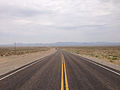 2014-07-17 11 22 12 View west along U.S. Route 6 about 44.9 miles east of the Esmeralda County Line in Nye County, Nevada.JPG