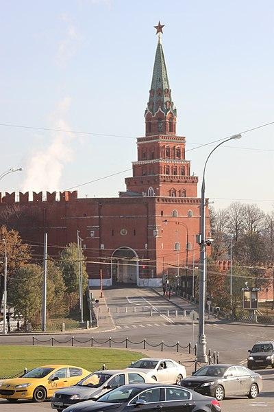 Файл:2014 Moscow Borovitskaya Tower Боровицкая башня Московского кремля.JPG